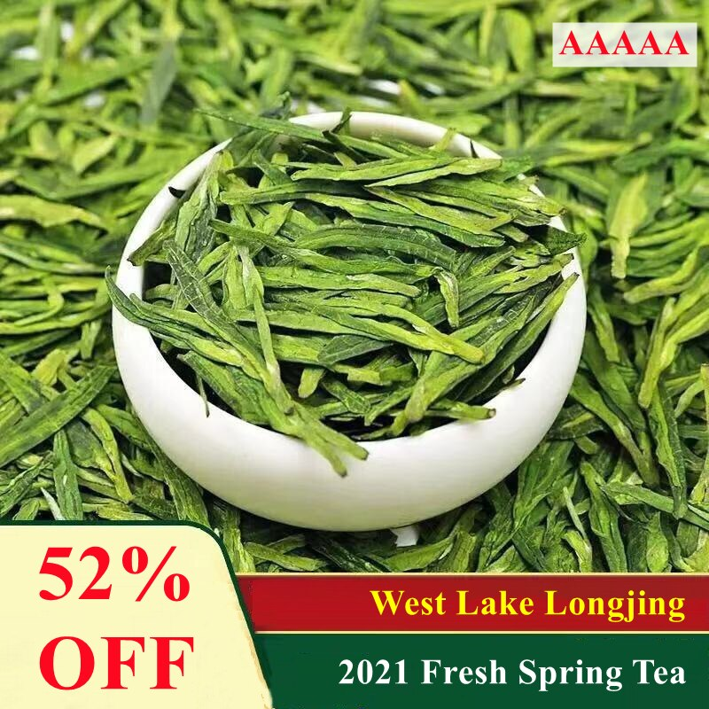 2021 5A Famous Good Quality Dragon Well Chinese Tea the Chinese Green Tea West Lake Dragon Well Heal