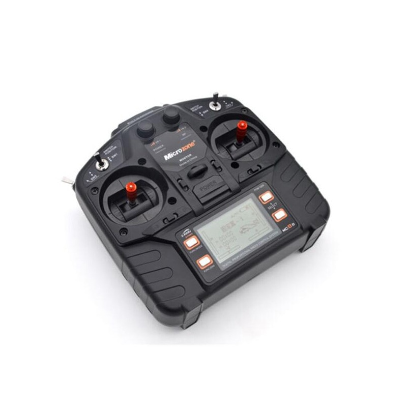 Microzone MC8B 2.4G 8CH Remote Control Transmitter & MC8RE 8CH Receiver radio system for RC aircraft fixed-wing helicopter drone enlarge