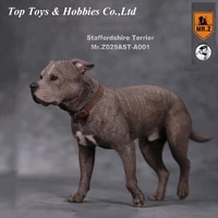 16 collectible figure scene accessories mr z real animal no 29 american staffordshire terrier posture with exchanged head