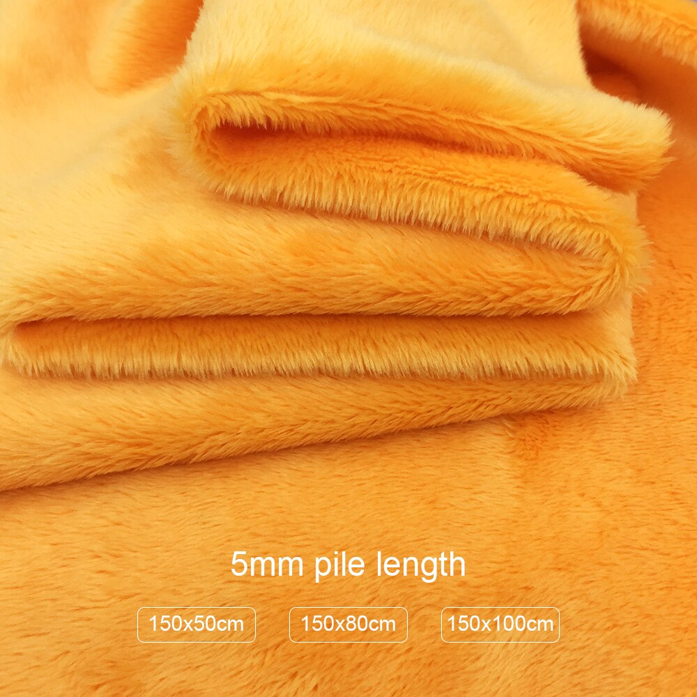 5mm pila 150x5 0cm/80cm/100cm Minky tejido de felpa para Diy de coser Patchwork tissus es Metro 100% poliéster Telas de tela de terciopelo
