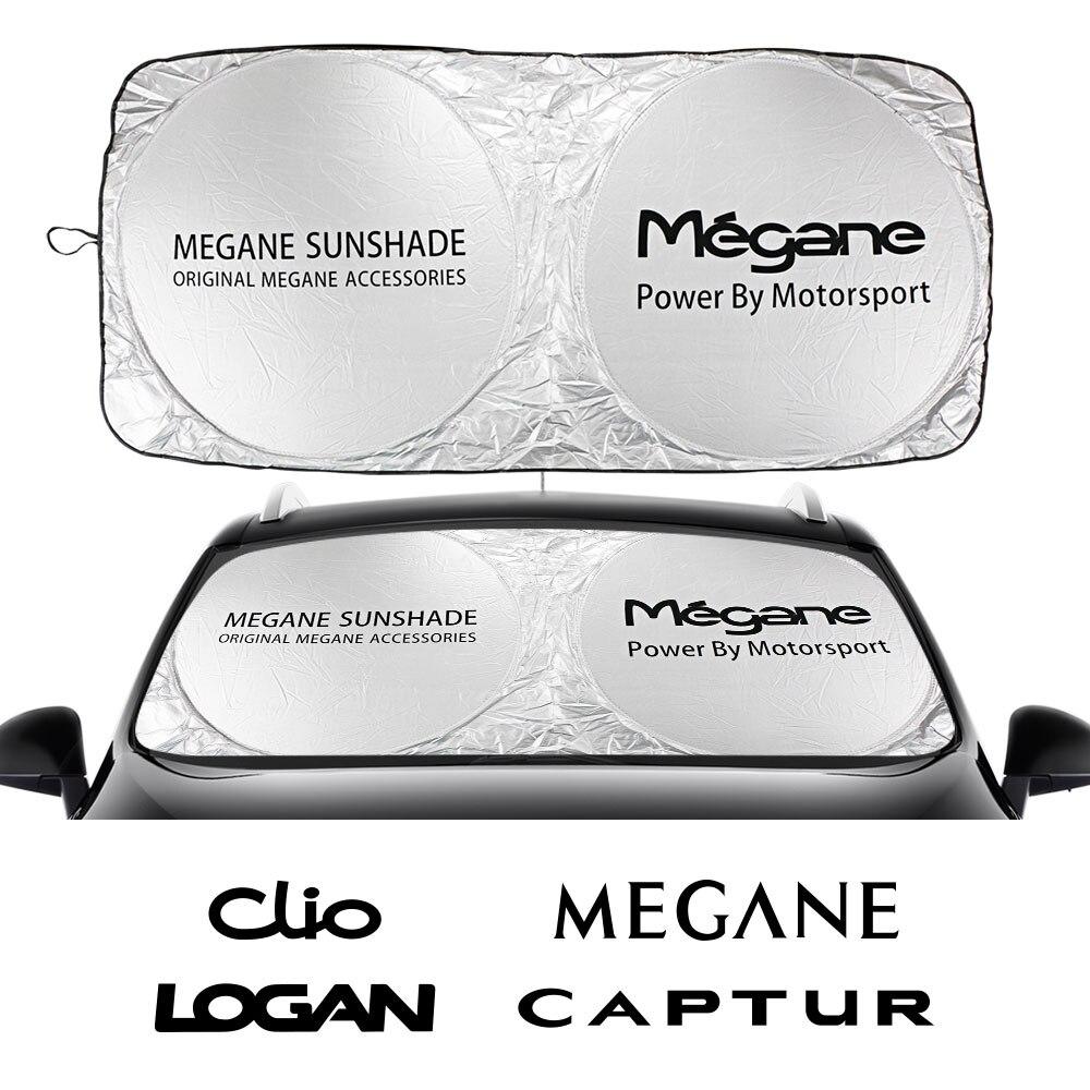 Coche parabrisas sombrillas accesorios para Renault Captur Clio Espace Fluence Clio Kangoo Koleos Captur Laguna latitud maestro