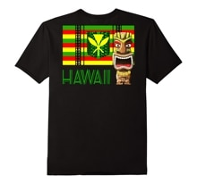 Drôle hommes T-Shirt femmes nouveauté T-Shirt Tribal Kanaka Maoli drapeau hawaïen Tiki T-Shirt