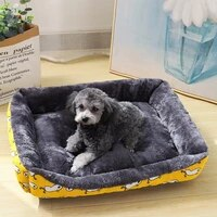 cartoon arctic velvet dog bed dog house pet sleeping pad soft and comfortable cat bed deep sleep breathable kennel pets supplies