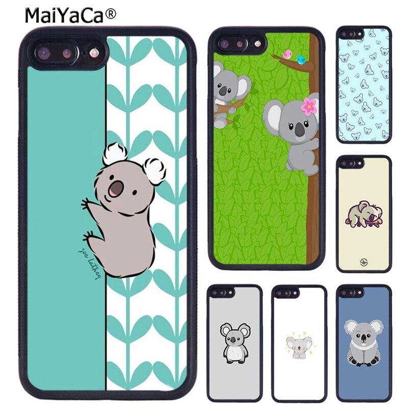 MaiYaCa Cute Cartoon Koala Phone Case Cover For iPhone X XR XS 11 Pro MAX 5 6 6S 7 8 Plus Samsung Galaxy S6 S7 S8 S9 S10