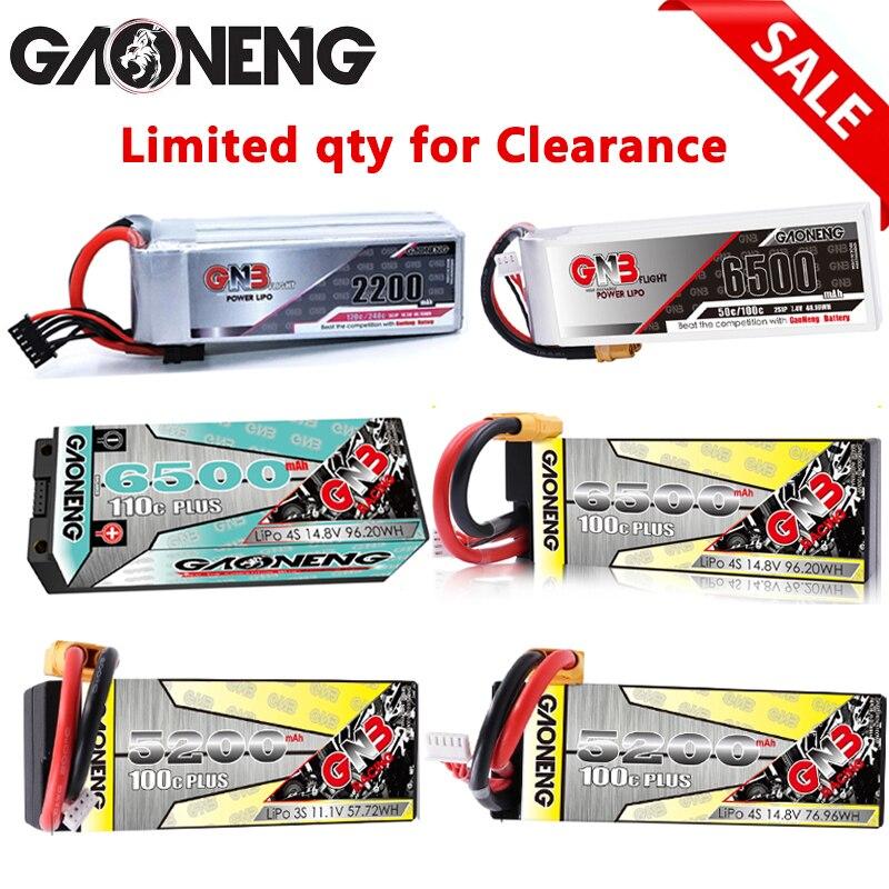 Venda gaoneng gnb 6500mah 5200mah 2200mah hardcase lipo bateria xt90/xt60/ec5 plug para 18 1/8 rc carro quatro unidade fora de estrada barco