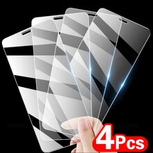 4Pcs Full Cover Tempered Glass On The For iPhone 11 12 Pro XS Max XR X Screen Protector For iPhone 8