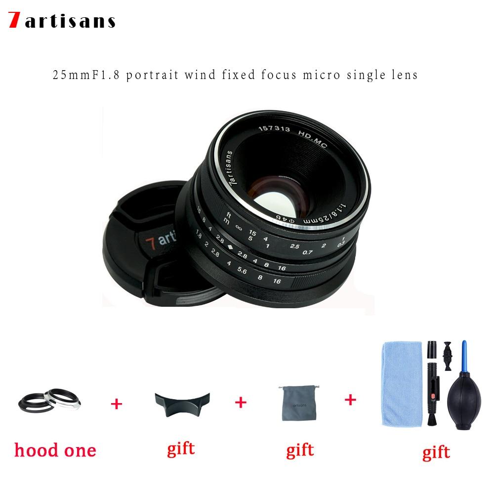 7artisans 25mm f1.8 Prime Lens For Mirrorless Camera MILC Sony E-Mount Canon EOS-M Micro 4/3 FUJI FX Cameras A7 A7II A7R A7S