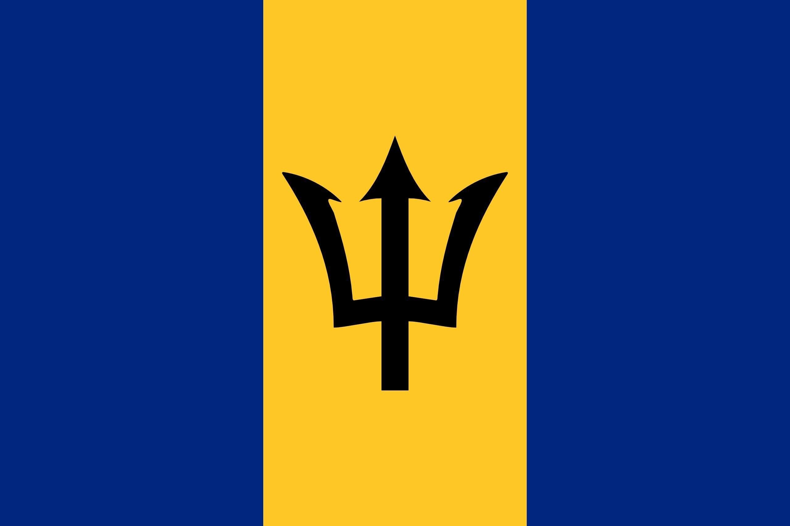 90*150cm  Barbados flag
