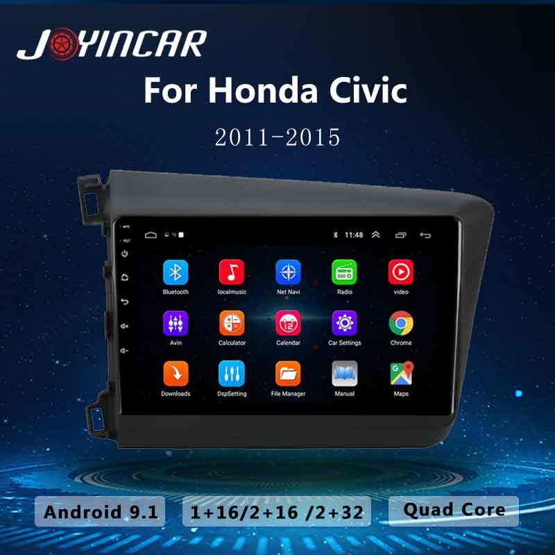 "9 ""android 9.1 2din carro multimidia navegação player de vídeo gps para honda civic 2012-2015 carro auto rádio estéreo áudio unidade principal"