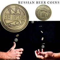 russian beer commemorative coin 4cm retro bronze color electroplating zinc alloy home decoration gift challenge coin mexico