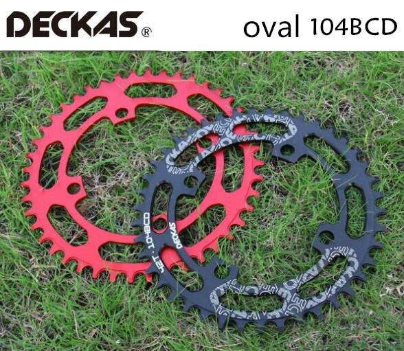 Deckas Ovale 104BCD 40/42/44/46/48/50/52T Mountain Fiets Kettingwiel mtb Bike Voor Shimano 8-12 Speed Crankstel Aluminium Kettingblad