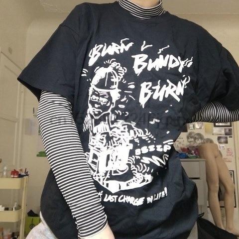 Quemar Bundy camiseta Burn Unisex Ted Bundy día de ejecución camisa Vintage de moda serie camiseta asesina