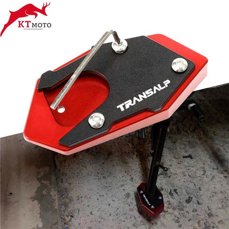 Для TRANSALP 600 650 700 XLV 600 650 700 для трансмиссионного мотоцикла CNC алюминиевая Подножка для ног боковая подставка удлинитель опорная пластина