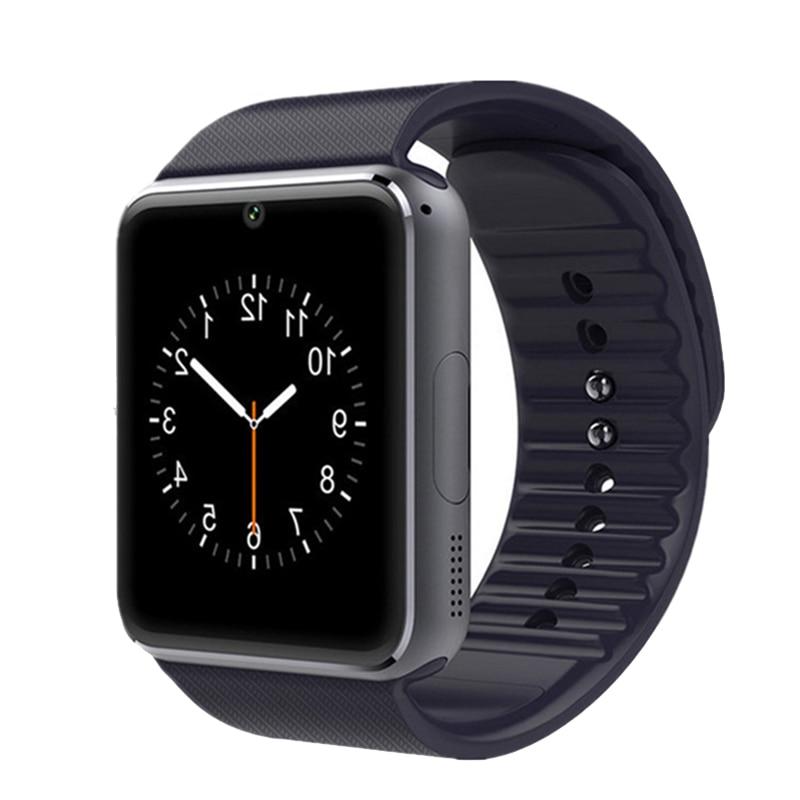 Contacto GT08 reloj inteligente para hombre tarjeta SIM teléfono con cámara reloj inteligente pulsera para medición de la presión arterial ritmo cardíaco