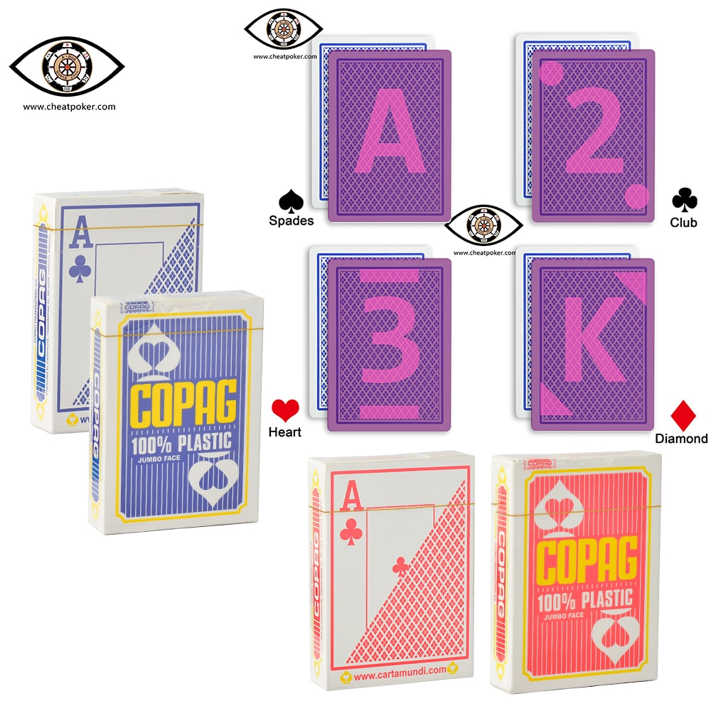 COPAG Marked playing cards for infrared contact lenses, magic show anti cheat poker недорого