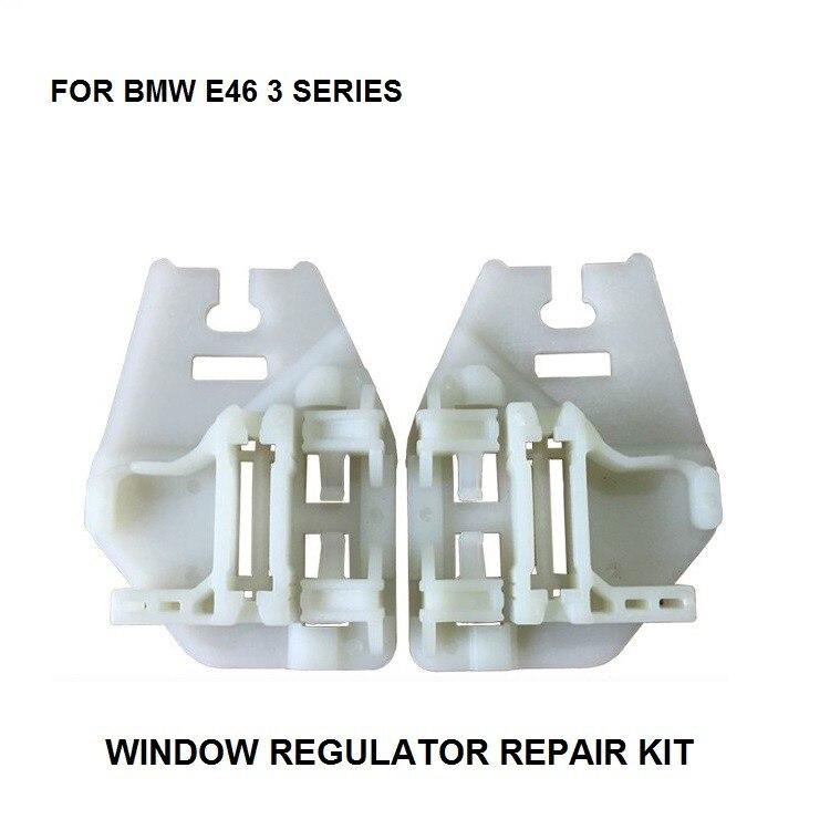 CLIPS de reparación para regulador de ventana deslizante de ventana para BMW E46, con deslizador trasero, lado izquierdo-Derecho 1998-2005