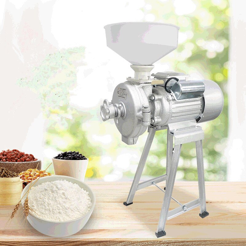 Grinding Machine Commercial Cereals Mill Multi-purpose Corn flour Ultra-fine Pulverizer Grain Crusher Mill Machine 220V 110V