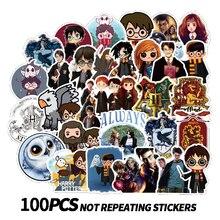 50/100PCS 만화 HP Pottes 클래식 해리스 스티커 수하물 스케이트 보드 노트북 데칼 냉장고 편지지 방수 스티커