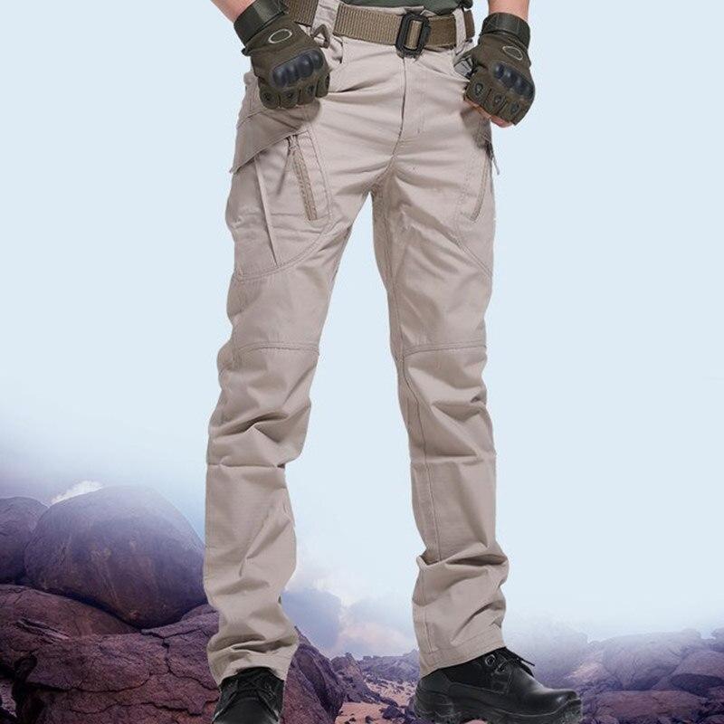Брюки-карго мужские тактические, повседневные спортивные штаны, эластичные брюки в стиле милитари, приталенные, с несколькими карманами, 3XL
