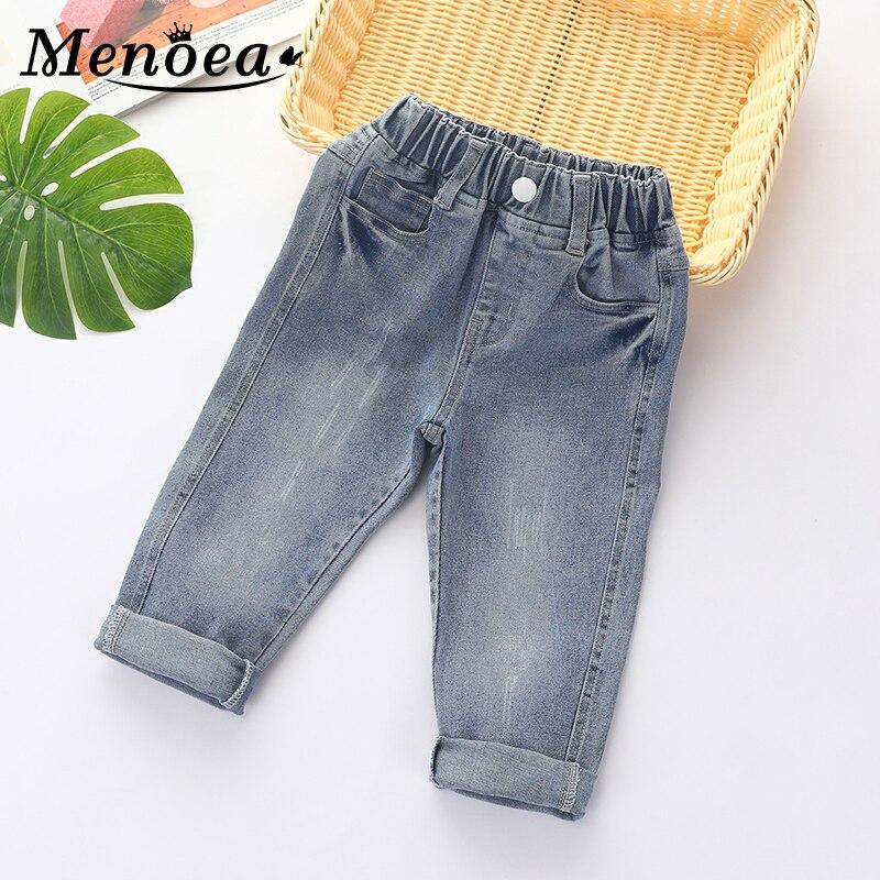 ¡Primavera 2020! Pantalones vaqueros para niños de Menoea, pantalones de mezclilla informales de color gris, ropa holgada para niños, Jeans para niñas, pantalones vaqueros para otoño