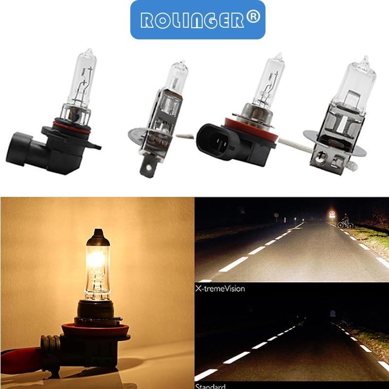 Car Halogen Bulb Lamp 55W H1 H3 H11 9006 HB4 Auto Halogen Bulb Fog Lights 12V 3000K Glass Car Headlights Lamp