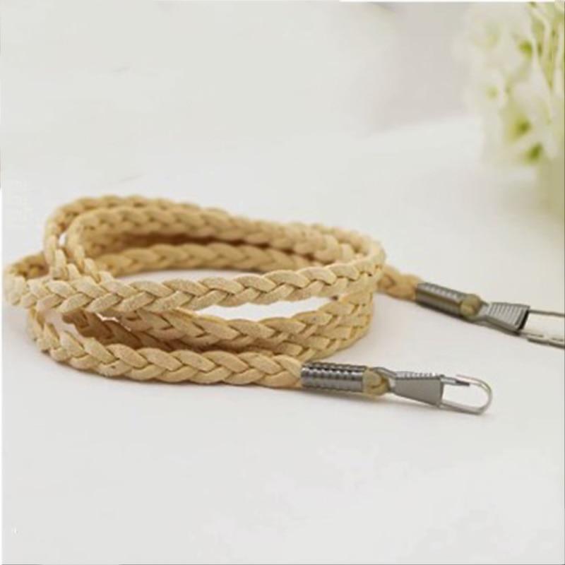 Fashion Replacement Purse Handle Belt Thin Bag Strap Solid Color Chain Woven Bags Handbag Shoulder Accessories