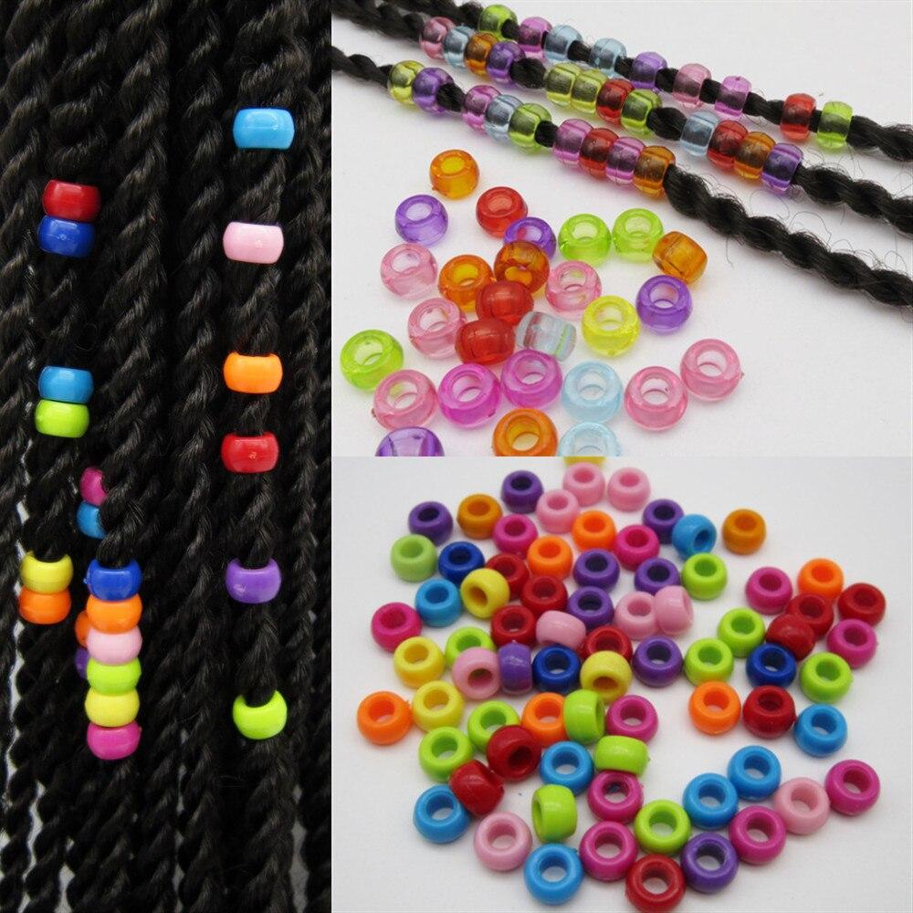 30 Uds -- 100 Uds. Trenzas multicolor de ganchillo para niños, cuentas dread dreadlock, tubo de anillos para accesorios de estilismo