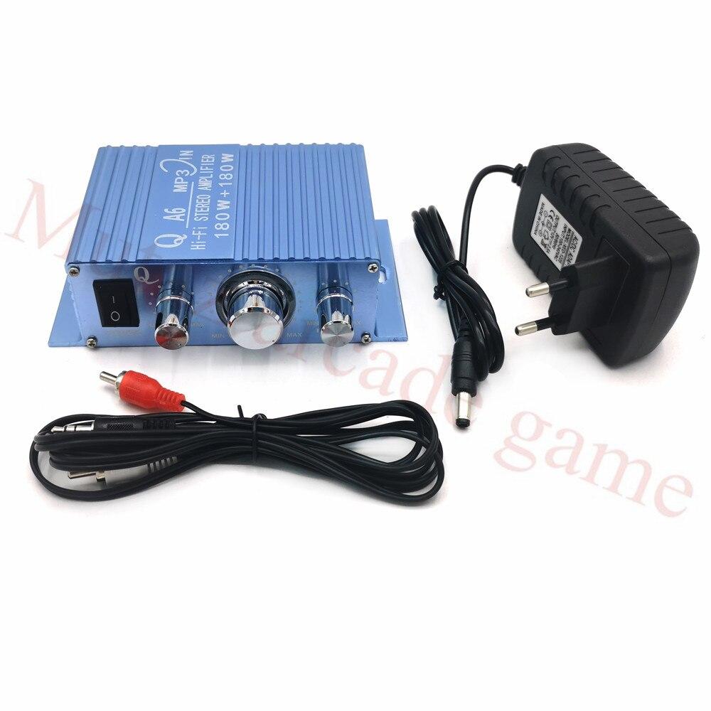 HIVI audio de-AMPLIFICADOR DE POTENCIA ESTÉREO, 180W, 12V, con adaptador de corriente,...