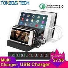 Tongdaytech 110W Multi 8 Port USB Charger For IPhone Carregador Portatil Quick Charge 3.0 Fast Charger Dock Station For Samsung