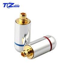 DIY auricular Pin enchufe soldadura para MMCX UE900 SE535 SE215 W10 W20 W30 Audio Jack cable conector negro plata chapado en oro adaptador