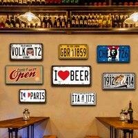 Plaque dimmatriculation en metal Vintage pour Garage  panneaux de roche  affiche  peinture murale  decor de Bar  maison douce