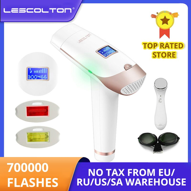 Lescolton 2в1 IPL эпилятор для удаления волос ЖК дисплей машина T009i лазер постоянный бикини триммер электрический эпилятор лазер|depilador a laser|depilador laseripl epilator | АлиЭкспресс