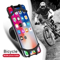 vogek 360%c2%b0 rotatabl silicone motorcycle phone holder bicycle stand shockproof mobile holder gps support bracket for iphone 11