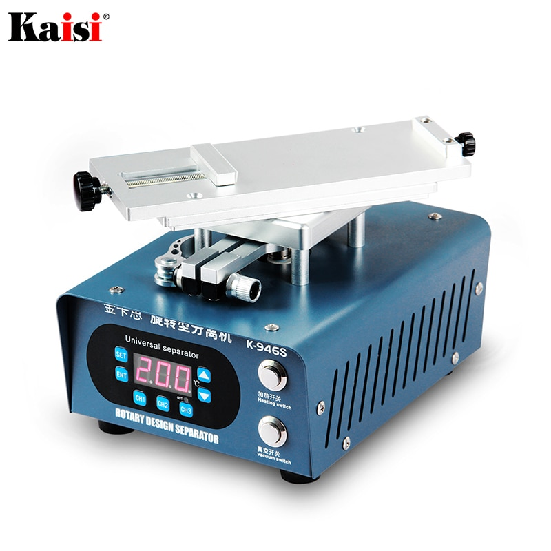 Kaisi 946S MAX الدائرية لزجاج شاشات LCD, تعمل باللمس ، آلة فاصلة للآيفون ، السامسونج ، شاشات منحنية ، إصلاح ، سريعة الفصل