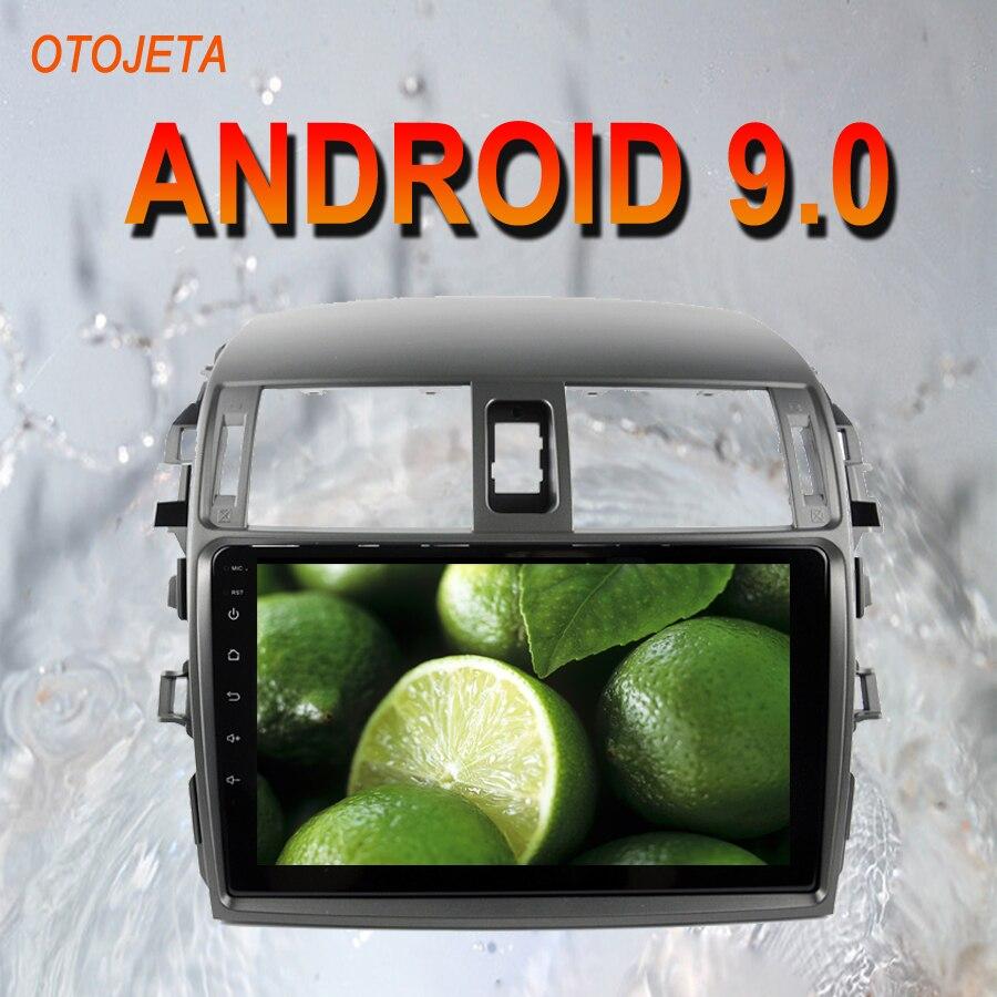 OTOJETA Android 9.0 2.5D Screen Car Radio Player Head Unit For Toyota Corolla 2010 2011 Multimedia auto Stereo GPS tape recorder