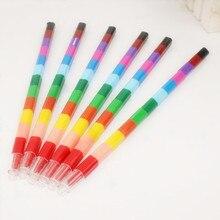 12 renk bebek çizim boya kalemi renkli yağ boya kalemi çocuk çocuklar yaratıcı blokları boya kalemi boyama malzemeleri hediye