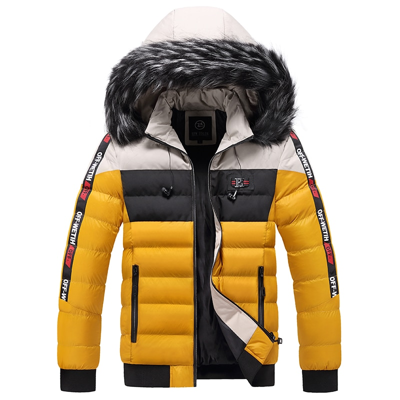 Winter Short Parka Coat Men's Coat Men's Korean Style Trendy Handsome Windproof Winter Parka Men's Coat with Hood