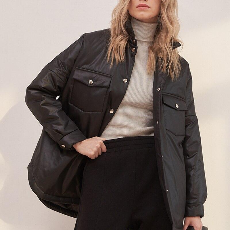 Женские хлопковые куртки, куртки с передним карманом и хлопковые куртки, женская мода, жилеты и водолазки