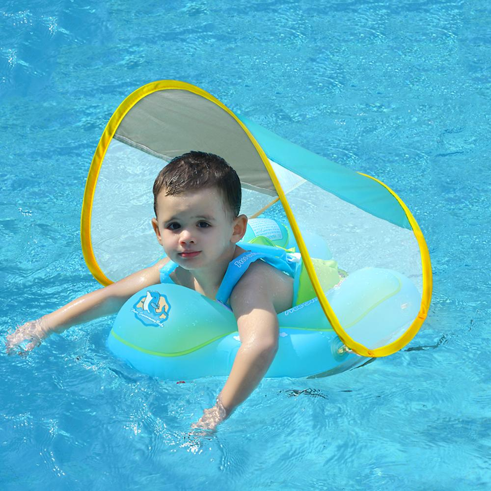 SWIMBOBO Baby Swimming Ring Infant Inflatable Floating Circle Bathing Swim Rings For Kids Pool Toys With Sunshade Dropshipping