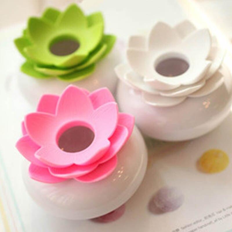 2 en 1 hisopo de algodón en forma de loto q-tip Dispenser algodón Bud Holder mondadientes titular recipiente para palillo de dientes elegante recipiente para bastoncillos