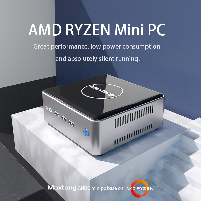 Mini Pc AMD Ryzen computador 8GB DDR4 128GB 256GB 512GB SSD  Gaming PC 2.4G 5G WiFi Mini Computer