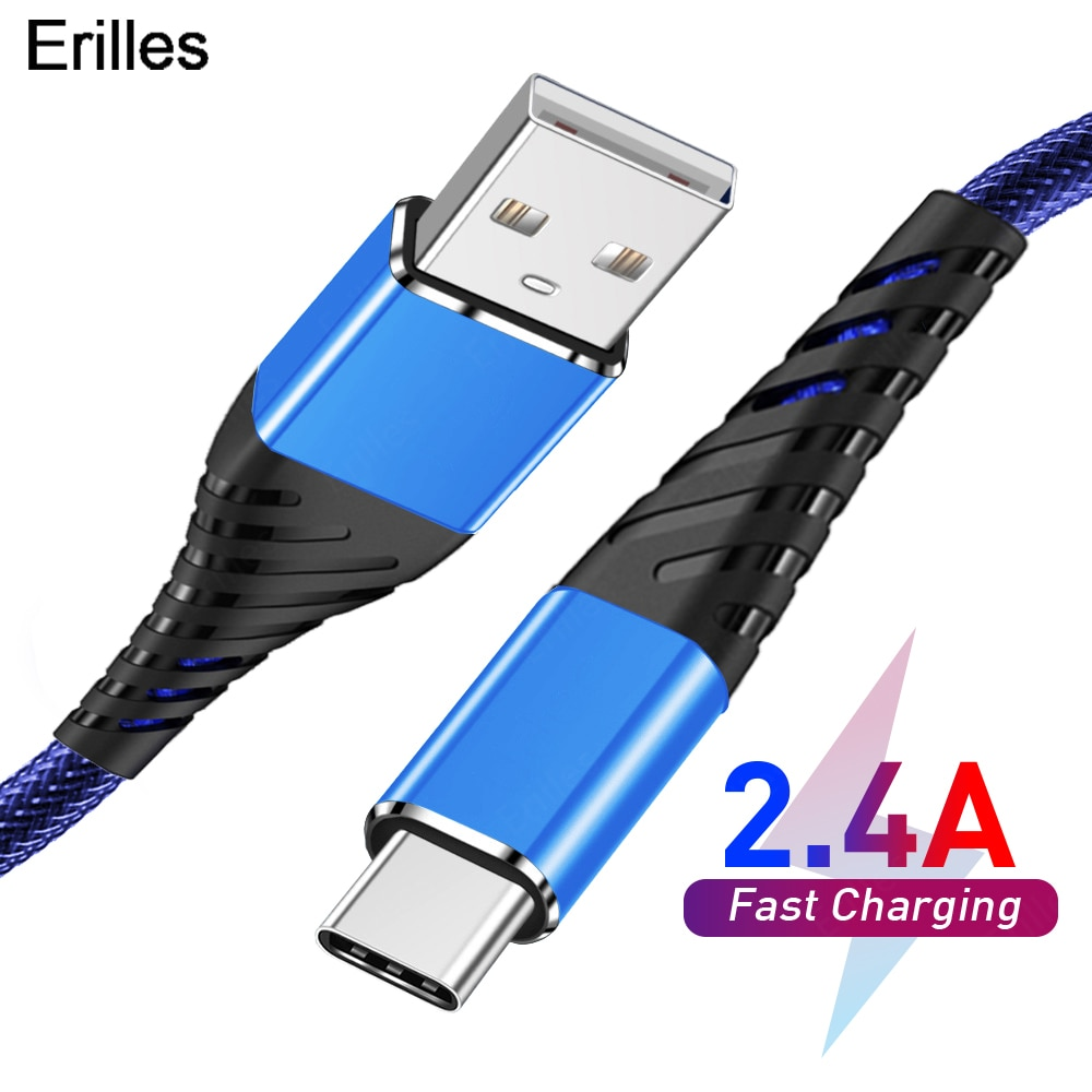 2.4A USB Type C Cable Fast Charging For Huawei Samgsung xiaomi Universal Mobile Phone Line USB C Cha