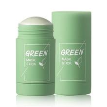 Cleansing Facial Mask Stick Green Tea Eggplant Oil Control Pore Shrinkage Blackhead Removal Moisturi