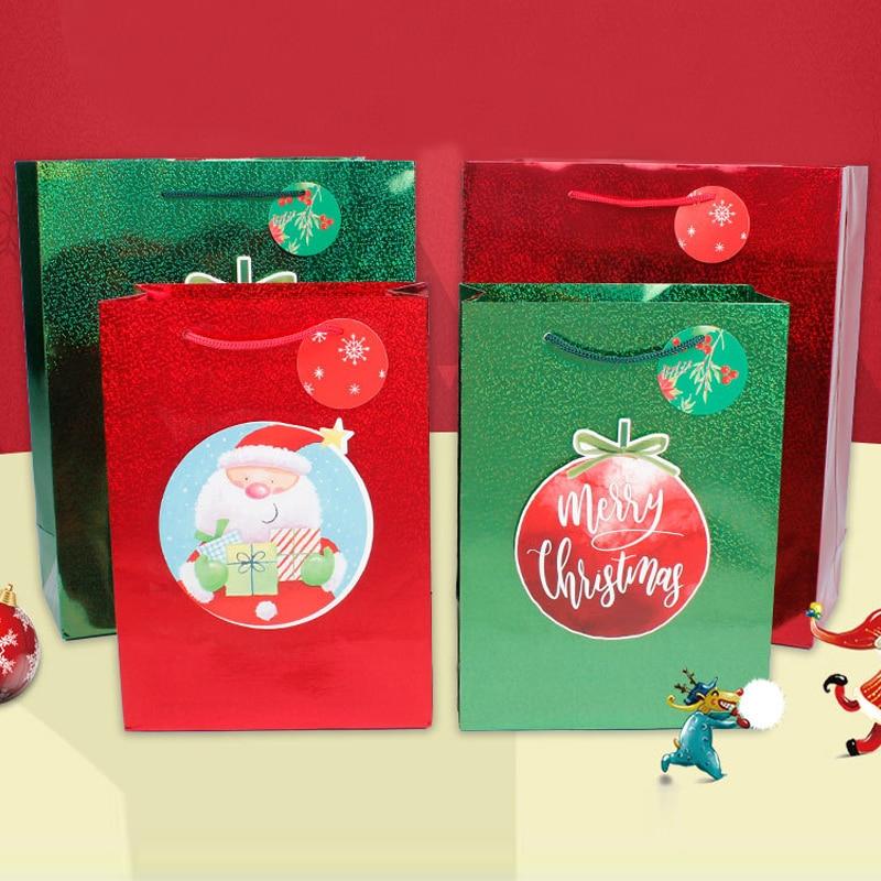 Adornos navideños para el hogar regalo láser navidad embalagen natal doces пакетики...