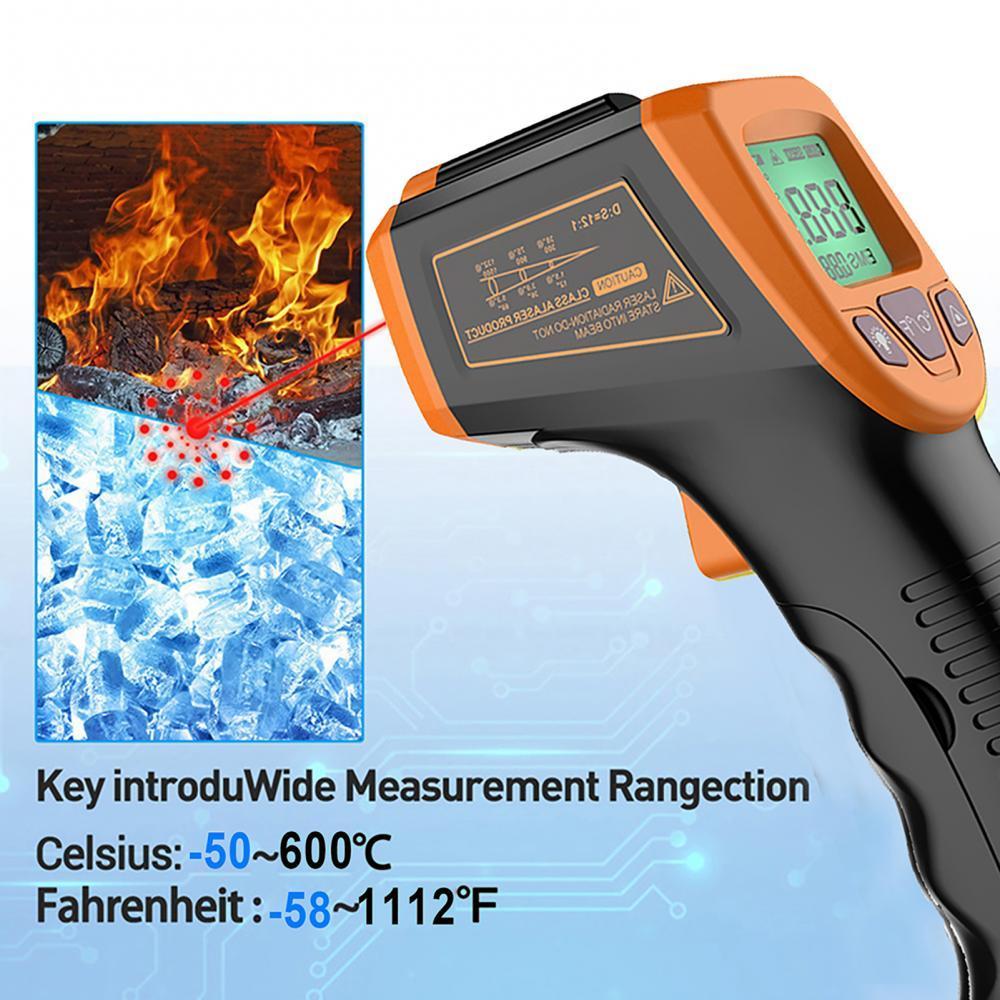 Бесконтактный инфракрасный ЖК-монитор, инфракрасный термометр, инфракрасный термометр, лазерный Точный Цифровой для GM320 (без батареи)