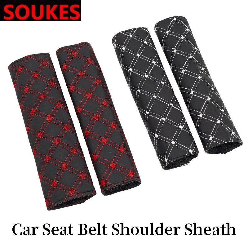 Para BMW E46 E39 X5 E53 X6 Mini Cooper Audi A4 B6 B8 A5 TT Ford Fiesta Ford Kuga para cinturón de seguridad de coche hombros protección almohadillas cubre