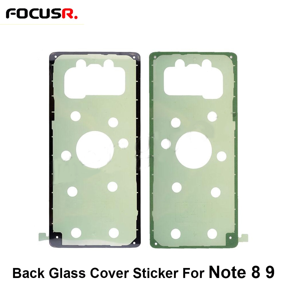 Cristal de la cubierta de atrás cinta pegamento adhesivo pegatina para Samsung S8 G950 S8 + G955 S9 G960 S9 + G965 S10 G973 S10 + G975 Nota 8 9 N950 N960