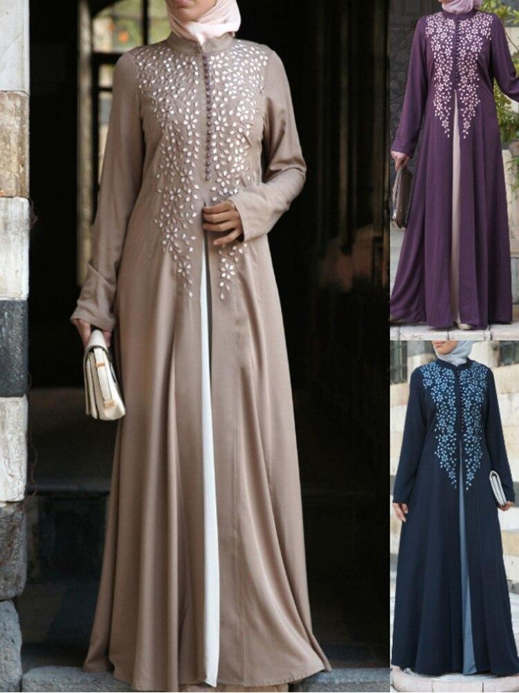 Ropa musulmana Abaya para mujeres musulmanas Kaftan vestido suelto estampado abaya islámica turca vestidos largos casual mujeres Muslimah Abaya dubai