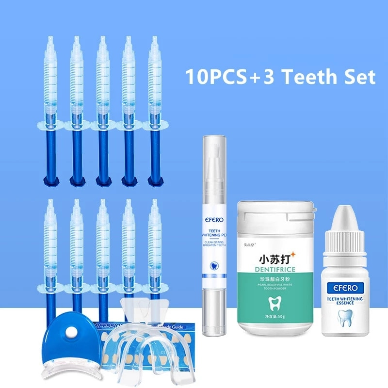 Oral Care Dental Peroxide Teeth Whitening Pen Essence Powder Kit Tooth Bleaching Gel Dental Brightening Dental Equipment