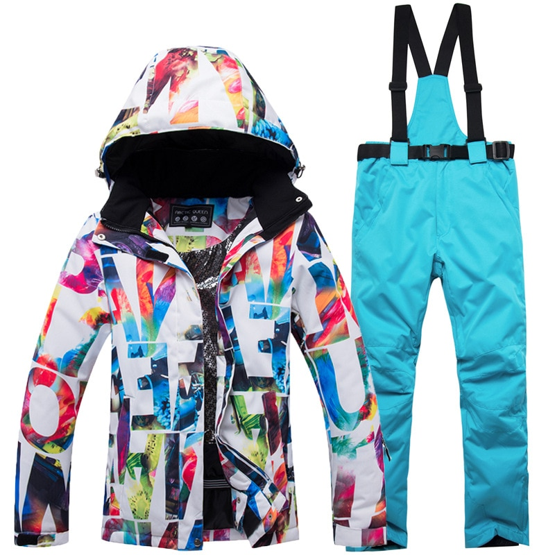 New Thick Warm Ski Suit Women Waterproof Windproof Skiing and Snowboarding Jacket Pants Set Female Snow Costumes Outdoor Wear winter thick warm ski suit women waterproof skiing and snowboarding jacket windproof pants set female snow costumes outdoor wear